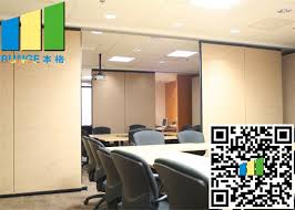 coated meeting room sound proof partitions panels with track system