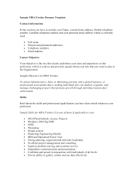 Mba Marketing Resume Sample by Resumesample Mba Resume Sample Resume For Mba Finance Freshers