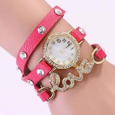 pink bracelet watches images Love fashion leather bracelet watch pink colour jpg
