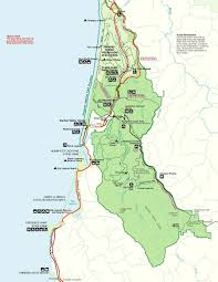 Texas State Park Map by Prairie Creek Redwoods Sp In Redwood National Park Trinidad