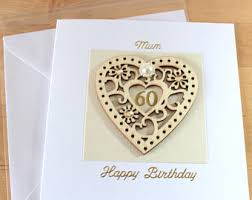 birthday cards for 60 year woman 60th birthday cards etsy