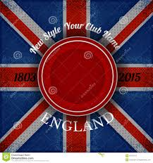 red circle frame for your lable on british flag grunge background