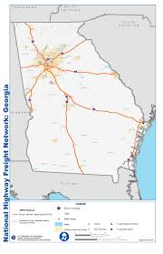 Howell Michigan Map by National Highway Freight Network Map And Tables For Georgia Fhwa