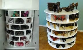 lazy susan shoe storage plans diy cozy home