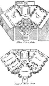 the octagon of washington d c visual 2 drawing 1 plans of the octagon s first and second floors with link