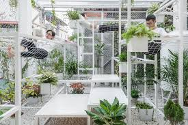 plant covered rooftop pavilion is a literal breath of fresh air
