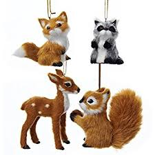 buri woodland animal hanging ornament set of 4 home