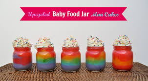 halloween baby food jar crafts upcycled baby food jars rainbow cake in a jar make life lovely