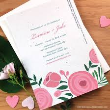 paper for invitations seed paper printable wedding invitations kit plantable wedding