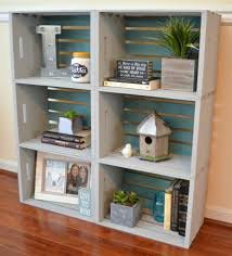 diy crate bookcase one artsy mama