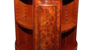Yew Side Table Bookcase Edwardian Mahogany Table Top Revolving Bookcase