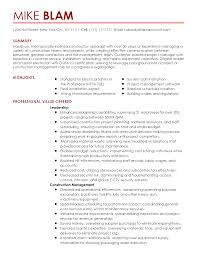 general contractor resume samples apprentice electrician resume sample summary highlights experience professional construction specialist templates to showcase your talent myperfectresume residential electrician resume template design