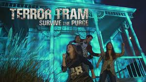 vip halloween horror nights terrortram survive the purge at halloween horror nights 2015