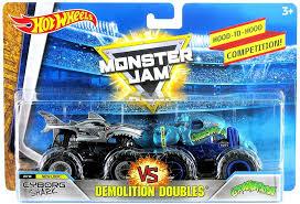 wheels monster jam trucks wheels monster jam demolition doubles cyborg shark crushstation