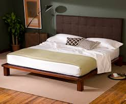 Platform Bed Frame With Headboard Solide Platform Bed Dark Chocolate Headboard Charles P Rogers