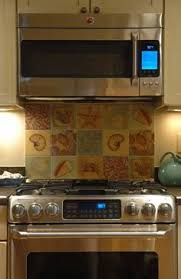 Kitchen Stainless Steel Tile Backsplash Behind The Stove Only - Backsplash behind stove