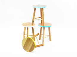 calypso stool tall u0026 small by beeline design handkrafted