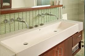 trough sinks bathroom bathroom modern with anodized fleetwood