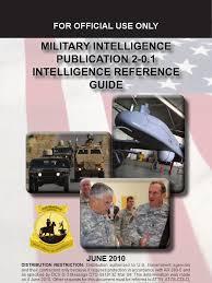 military intelligence publication 2 0 1 intelligence reference