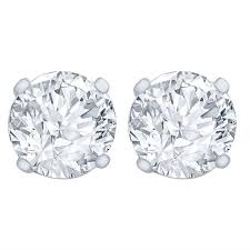 earring stud 1 4 carat diamond stud earrings i2i3 clarity jk color 14kt