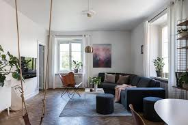in livingroom swing in livingroom at stockholm apartment scandinavian interior