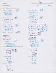 worksheet quadratic formula worksheets solving quadratic equations with square roots worksheet answers 6 2 by factoring