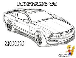 ford mustang cars book coloring page at yescoloring voitures
