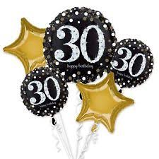 30th birthday balloon bouquets amscan international 3214301 sparkling 30th birthday foil balloon