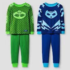 toddler boys pj masks catboy and gekko 4 cotton pajama set