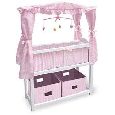 badger basket doll crib with cabinet badger basket canopy doll crib free shipping today overstock com