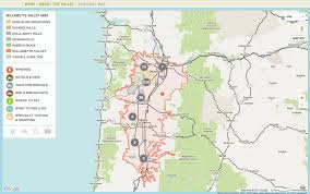 Oregon Wine Country Map by Wine Country Resources International Pinot Noir Celebration