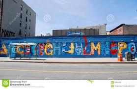 mural art at alphabet city in east village lower manhattan editorial stock photo