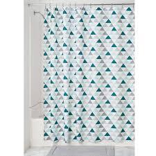 Mint Shower Curtain Amazon Com Interdesign Triangles Soft Fabric Shower Curtain 72