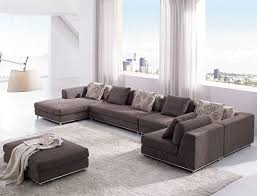 Modern Fabric Sectional Sofas Modern Brown Fabric Sectional Sofa Tos Anm9708 2