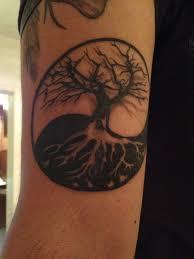 tree of yin yang base for adding symbols around