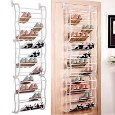 over the door shoe rack for 36 pairs wall hanging closet organizer