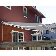 How To Make A Retractable Awning Backyard Creations 12 U0027 W X 10 U0027 Projection Gray Retractable Patio