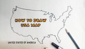 United States America Map by How To Draw United States Of America Usa Map Youtube