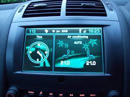 peugeot 407 coupe peugeot 407 coupe colour screen showing clock and air con u2026 flickr