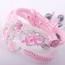 pink heart bracelet images Pink heart rhinestone breast cancer awareness bracelet jpg