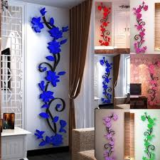 home decor 3d stickers 3d flower removable vinyl quote diy wall sticker decal mural
