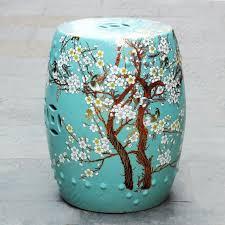 peach blossom painting chinese ceramic garden stool furniture
