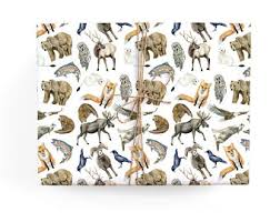 moose wrapping paper moose wrapping paper etsy