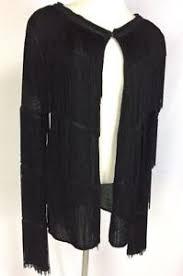 black fringe sweater nwt honey punch black boho knit cardigan sweater fringe