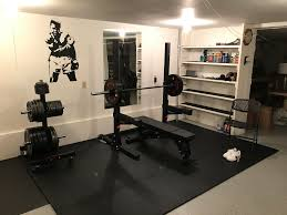 minimal home first home gym set up minimal but adequate homegym