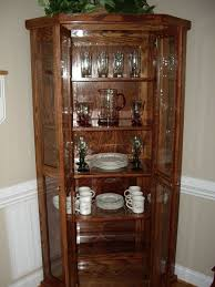 old glass doors curio cabinet mission style curioinets for