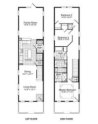 narrow lot floor plans inc plannarrow house ideas about