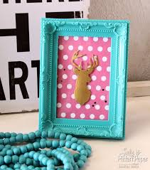 Making Home Decor Items by Framed Deer Art Lady Pattern Paper Scrapbooking Paper