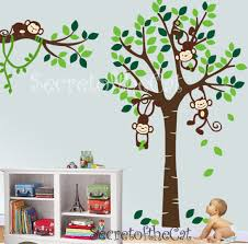 Nursery Monkey Wall Decals Nursery Wall Decal Wall Decal Nursery Tree With Monkeys
