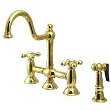 polished brass kitchen faucets brass polished kitchen faucets bellacor